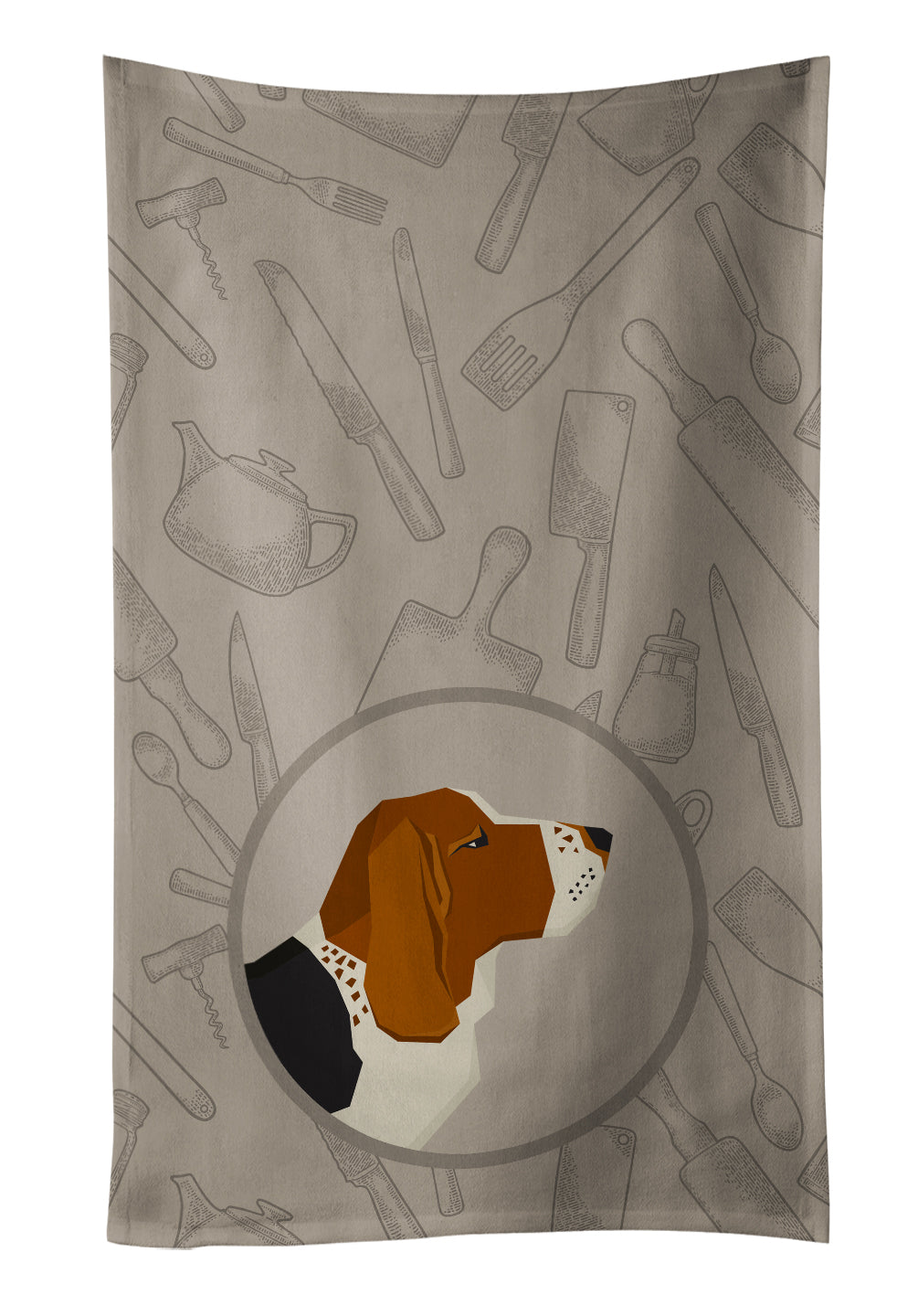 Basset Hound In the Kitchen Kitchen Towel CK2165KTWL by Caroline's Treasures