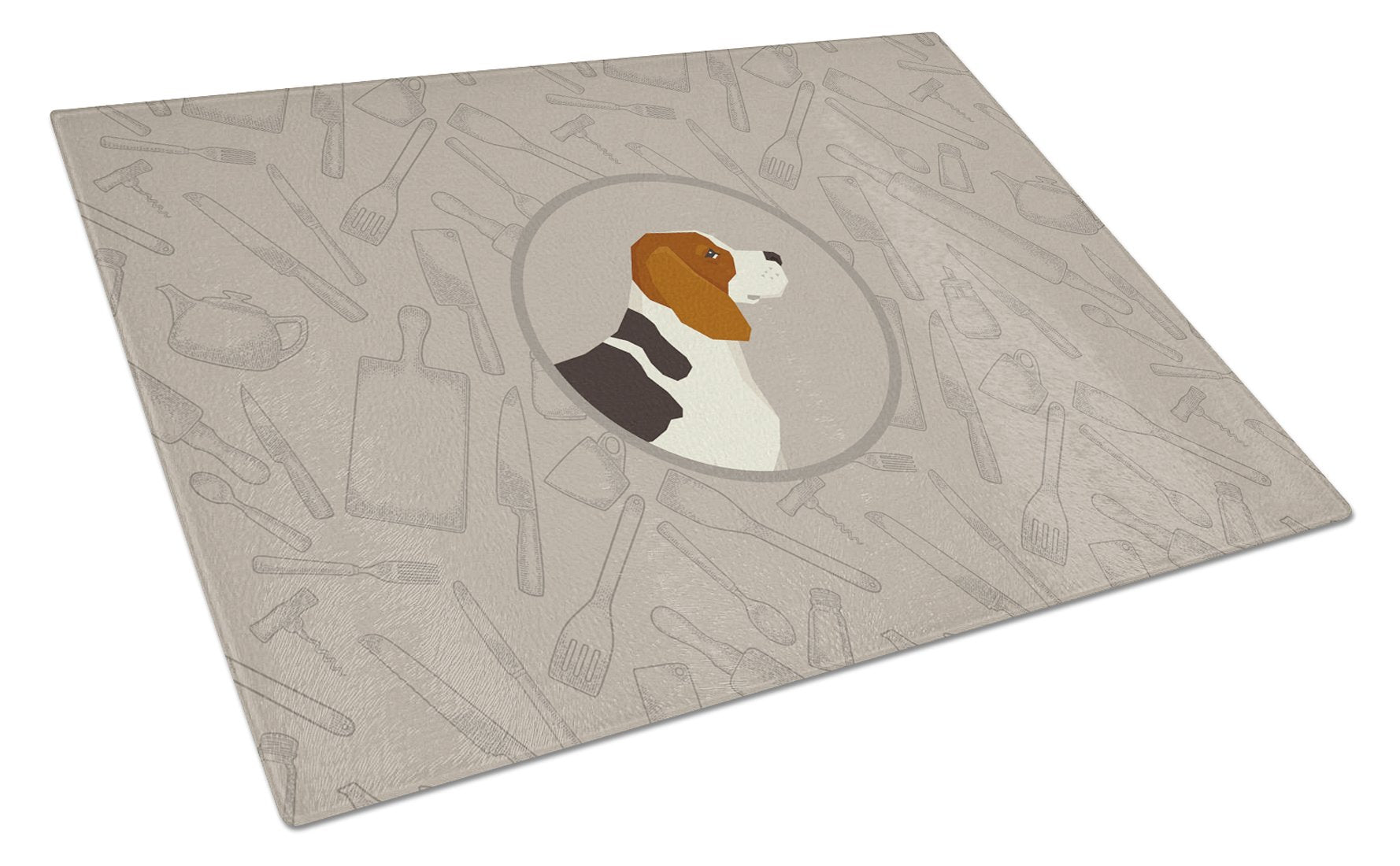 Buy this Beagle In the Kitchen Glass Cutting Board Large CK2166LCB