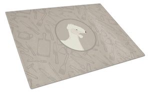 Buy this Bedlington Terrier In the Kitchen Glass Cutting Board Large CK2167LCB