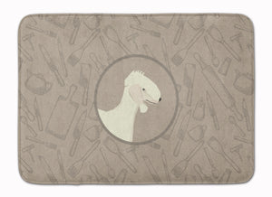 Buy this Bedlington Terrier In the Kitchen Machine Washable Memory Foam Mat CK2167RUG