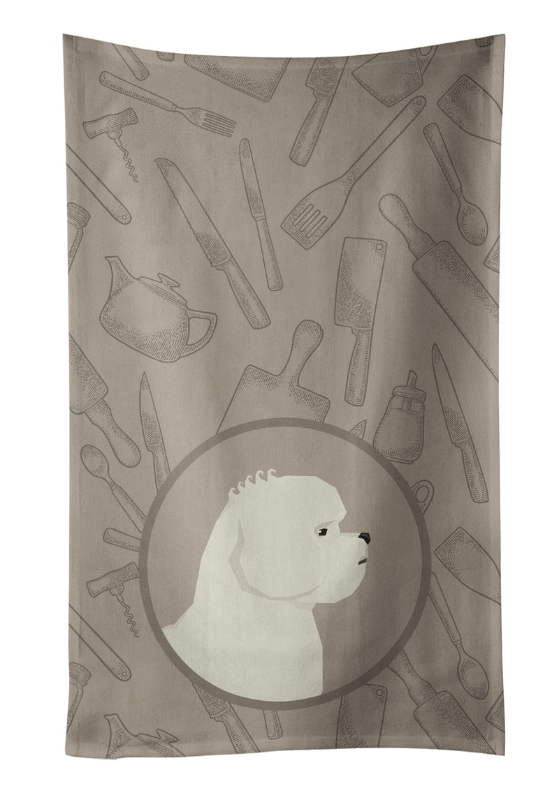 Buy this Bichon Frise In the Kitchen Kitchen Towel CK2168KTWL