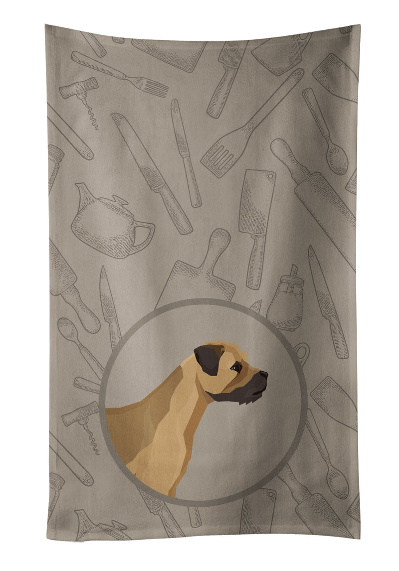 Buy this Border Terrier In the Kitchen Kitchen Towel CK2170KTWL