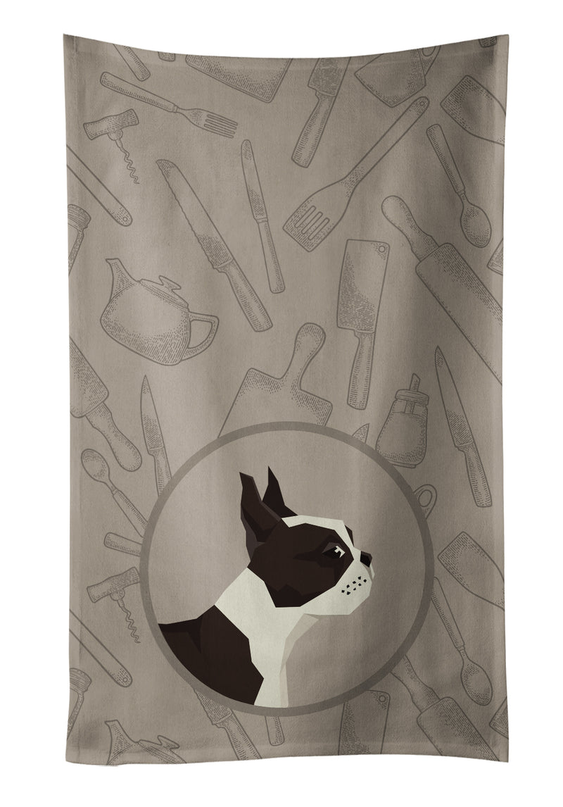 Buy this Boston Terrier In the Kitchen Kitchen Towel CK2172KTWL
