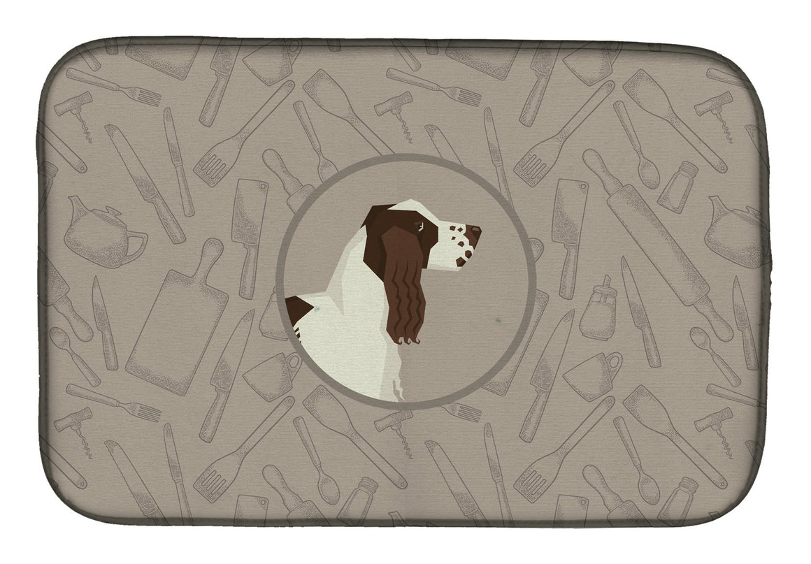 Buy this English Springer Spaniel In the Kitchen Dish Drying Mat CK2184DDM