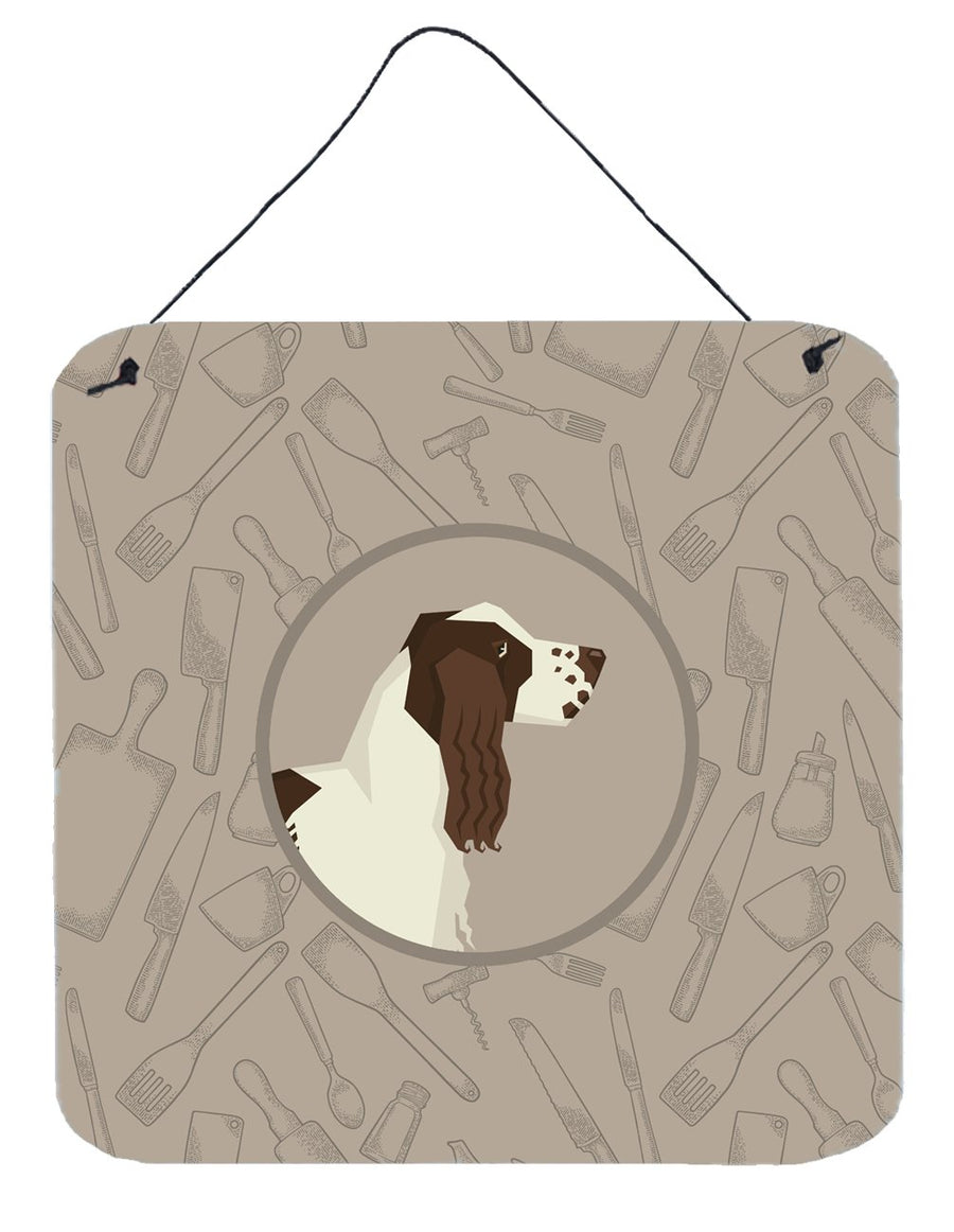 Buy this English Springer Spaniel In the Kitchen Wall or Door Hanging Prints CK2184DS66