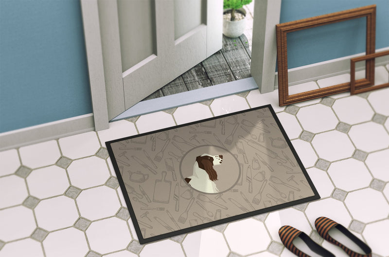 Buy this English Springer Spaniel In the Kitchen Indoor or Outdoor Mat 24x36 CK2184JMAT