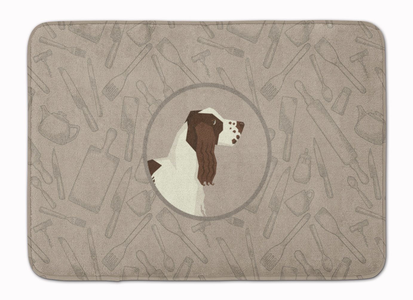 Buy this English Springer Spaniel In the Kitchen Machine Washable Memory Foam Mat CK2184RUG