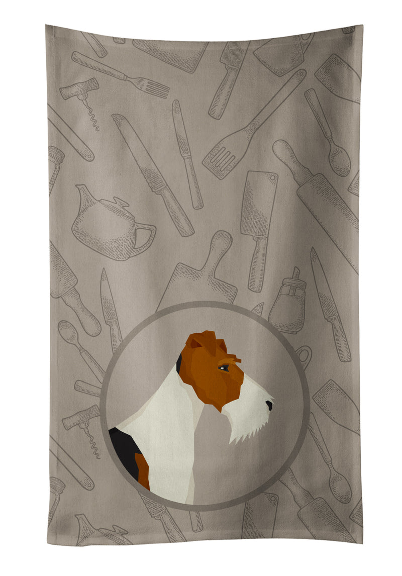 Buy this Fox Terrier In the Kitchen Kitchen Towel CK2185KTWL