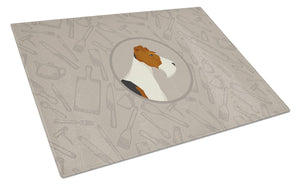 Buy this Fox Terrier In the Kitchen Glass Cutting Board Large CK2185LCB
