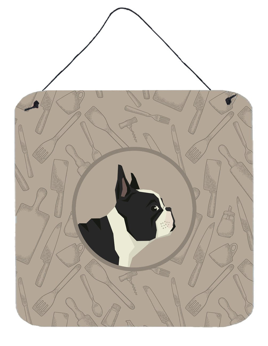 Buy this French Bulldog In the Kitchen Wall or Door Hanging Prints CK2186DS66