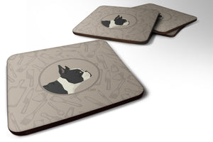 Buy this French Bulldog In the Kitchen Foam Coaster Set of 4 CK2186FC