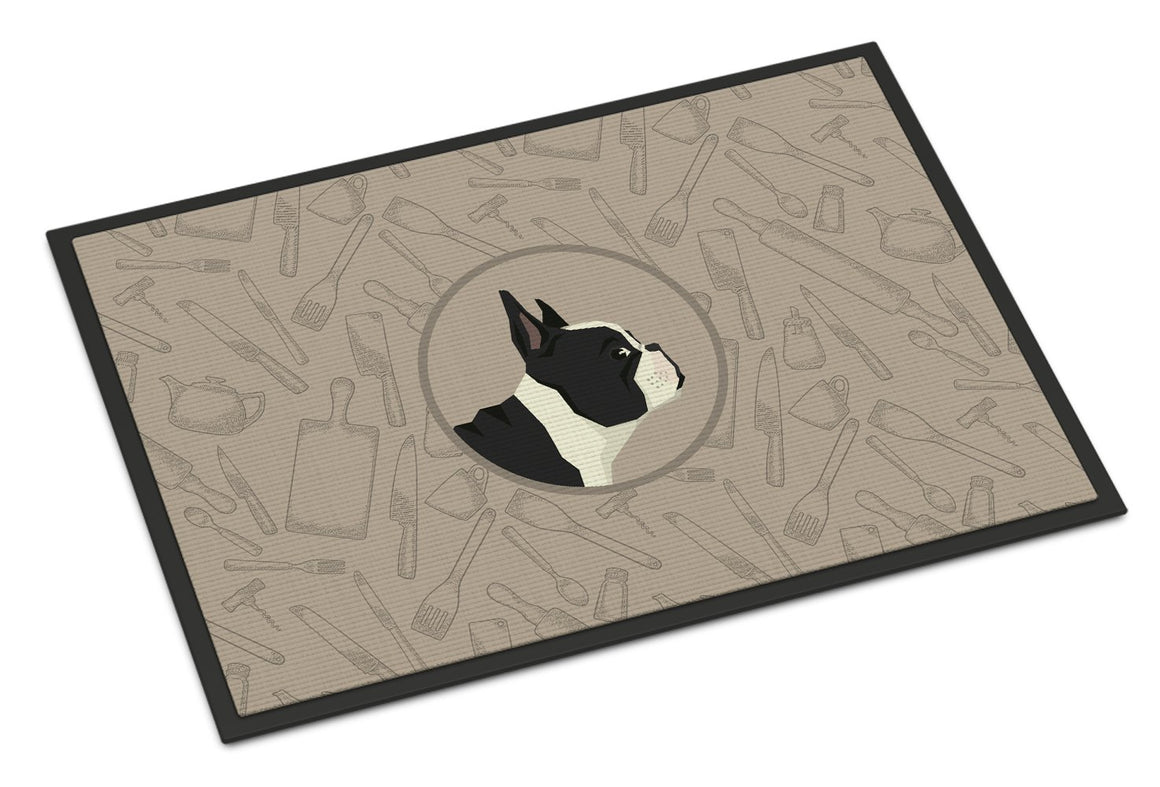 Buy this French Bulldog In the Kitchen Indoor or Outdoor Mat 24x36 CK2186JMAT
