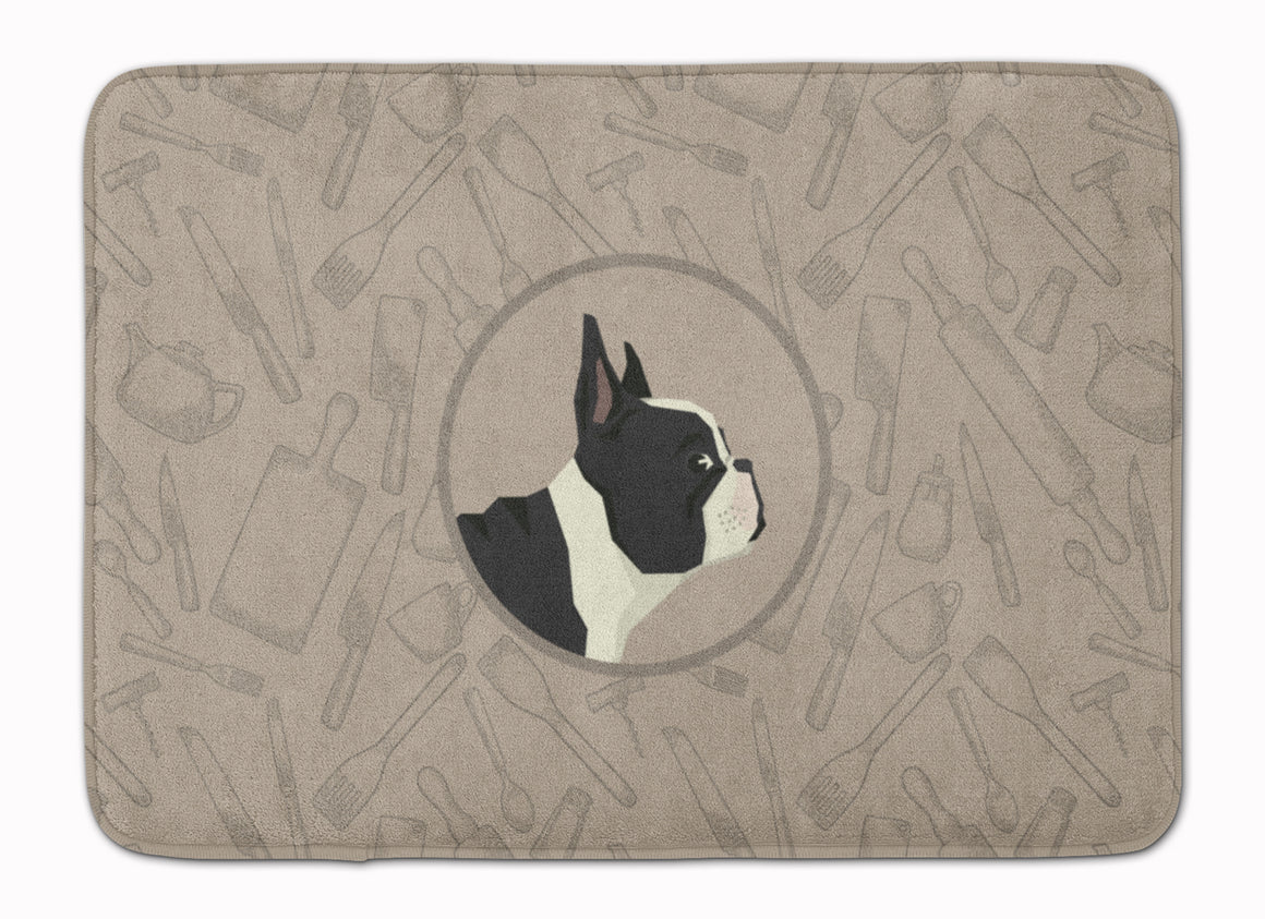 Buy this French Bulldog In the Kitchen Machine Washable Memory Foam Mat CK2186RUG