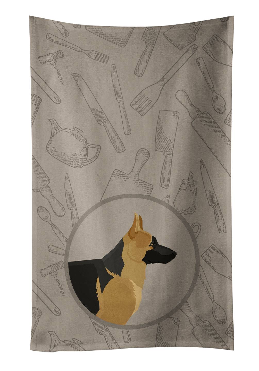 Buy this German Shepherd In the Kitchen Kitchen Towel CK2187KTWL