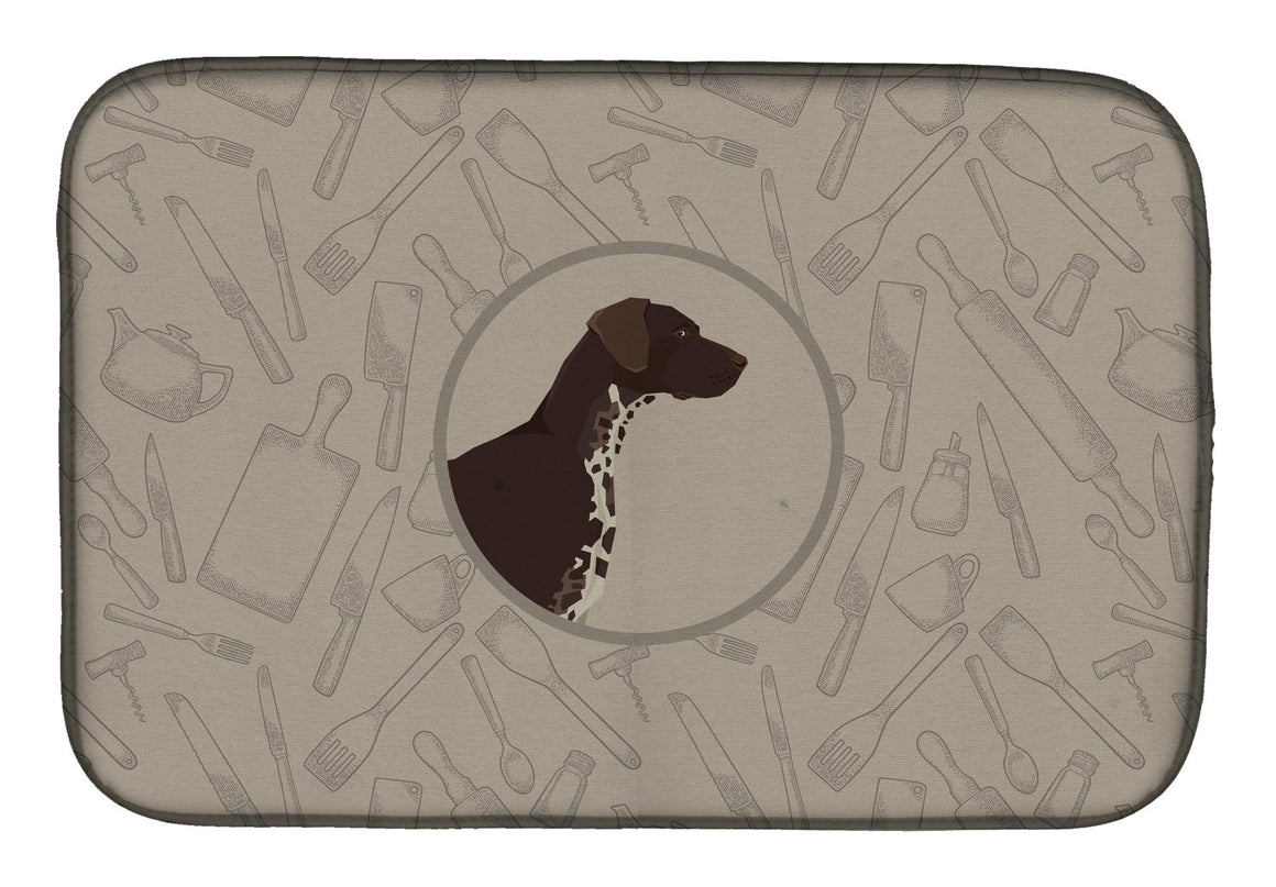 Buy this German Shorthaired Pointer In the Kitchen Dish Drying Mat CK2188DDM