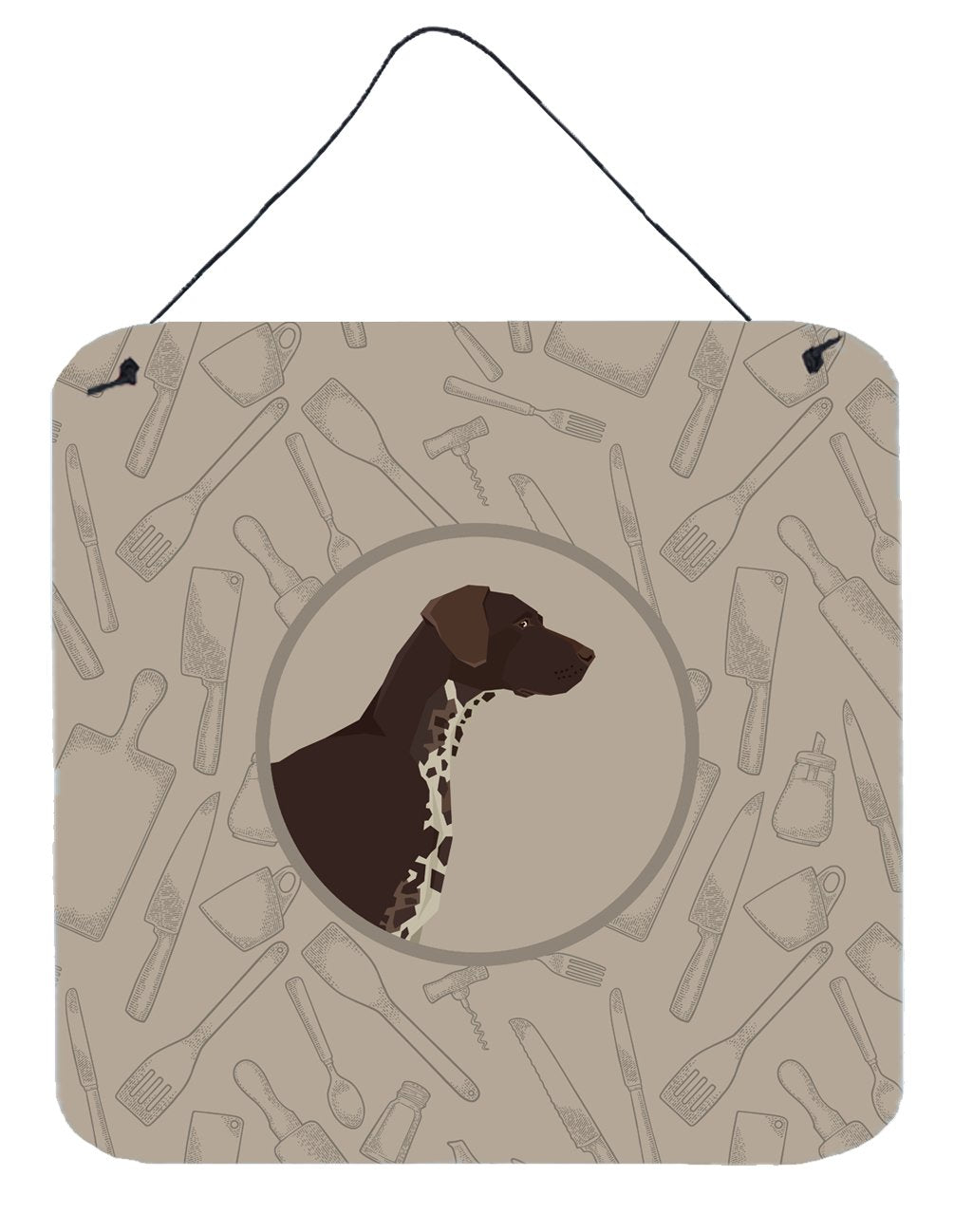 Buy this German Shorthaired Pointer In the Kitchen Wall or Door Hanging Prints CK2188DS66