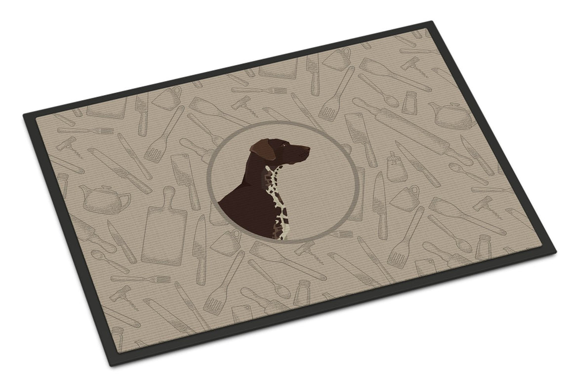 Buy this German Shorthaired Pointer In the Kitchen Indoor or Outdoor Mat 24x36 CK2188JMAT