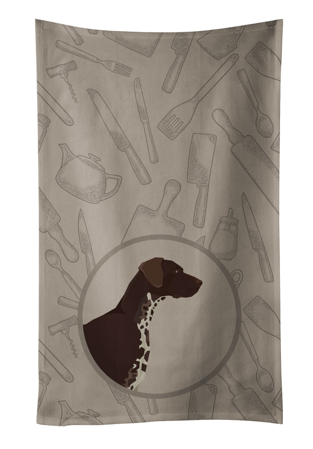 German Shorthaired Pointer In the Kitchen Kitchen Towel CK2188KTWL by Caroline's Treasures