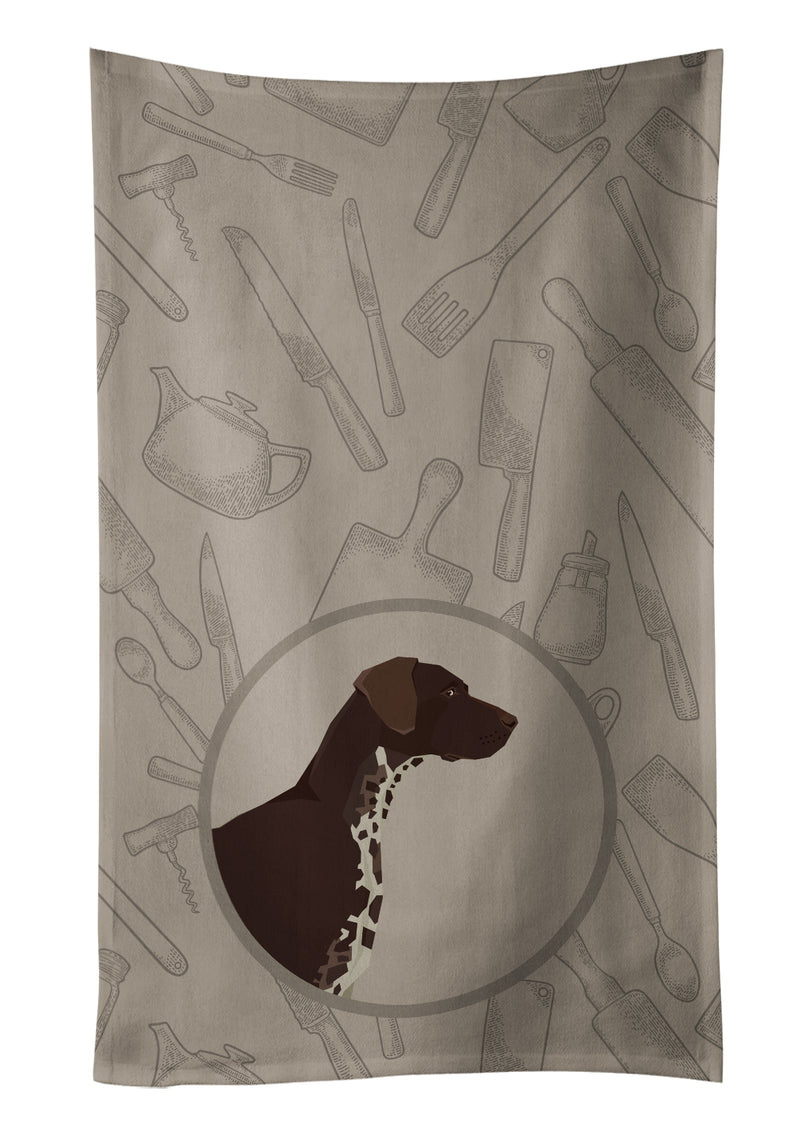 Buy this German Shorthaired Pointer In the Kitchen Kitchen Towel CK2188KTWL