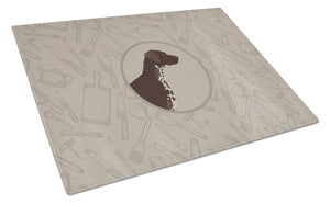 Buy this German Shorthaired Pointer In the Kitchen Glass Cutting Board Large CK2188LCB