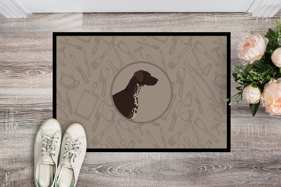 Buy this German Shorthaired Pointer In the Kitchen Indoor or Outdoor Mat 18x27 CK2188MAT