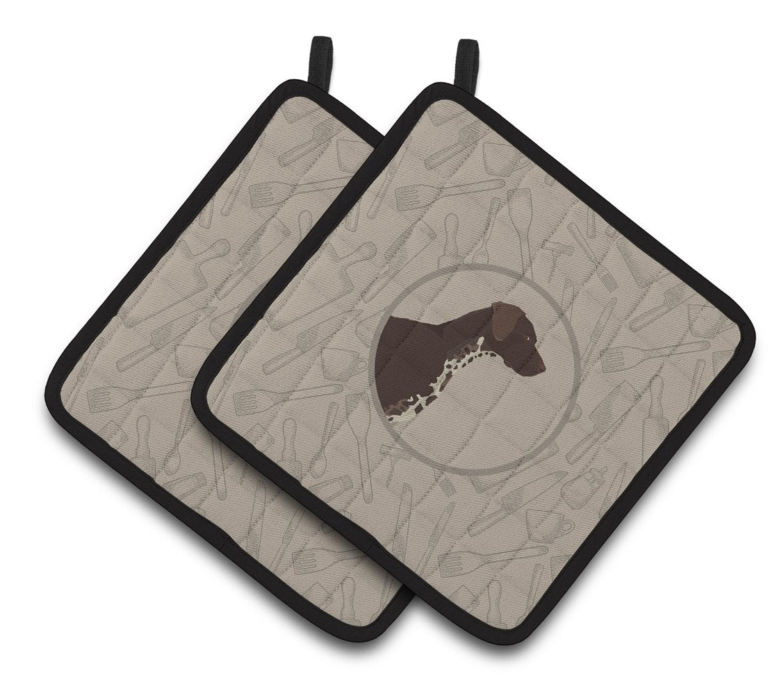 Buy this German Shorthaired Pointer In the Kitchen Pair of Pot Holders CK2188PTHD