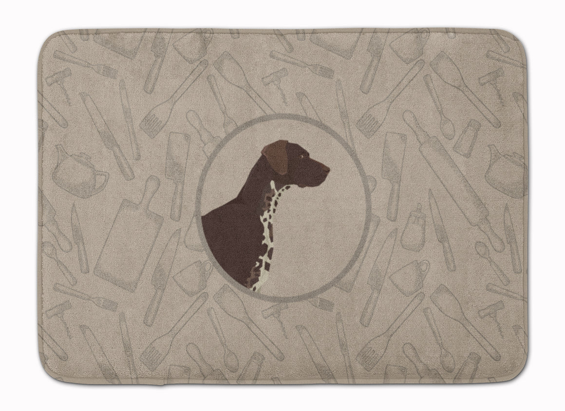 Buy this German Shorthaired Pointer In the Kitchen Machine Washable Memory Foam Mat CK2188RUG