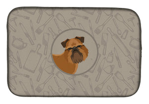 Buy this Brussels Griffon In the Kitchen Dish Drying Mat CK2191DDM