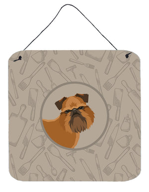 Buy this Brussels Griffon In the Kitchen Wall or Door Hanging Prints CK2191DS66
