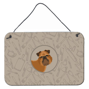 Buy this Brussels Griffon In the Kitchen Wall or Door Hanging Prints CK2191DS812