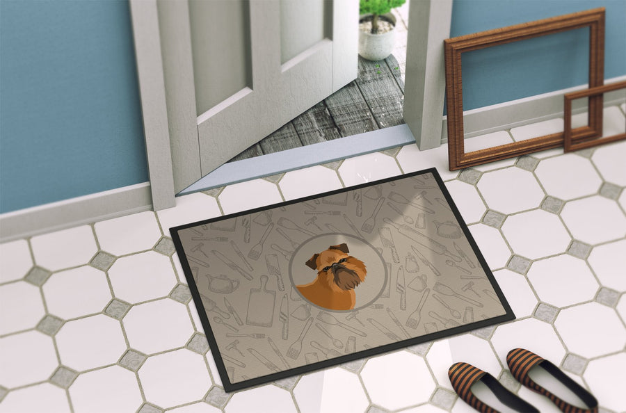 Buy this Brussels Griffon In the Kitchen Indoor or Outdoor Mat 24x36 CK2191JMAT