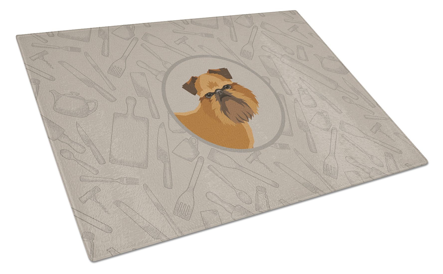 Buy this Brussels Griffon In the Kitchen Glass Cutting Board Large CK2191LCB