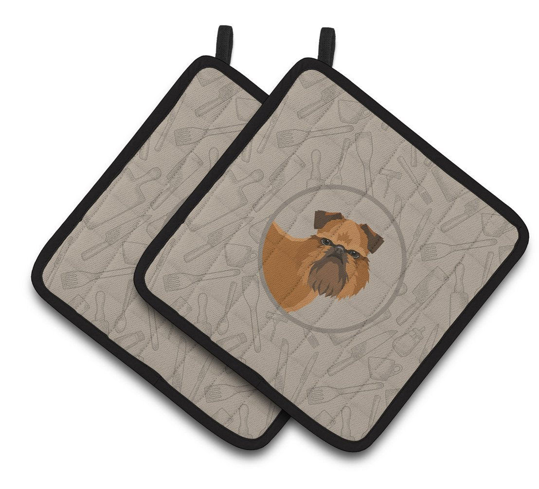 Buy this Brussels Griffon In the Kitchen Pair of Pot Holders CK2191PTHD