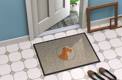 Irish Terrier In the Kitchen Indoor or Outdoor Mat 24x36 CK2193JMAT by Caroline's Treasures