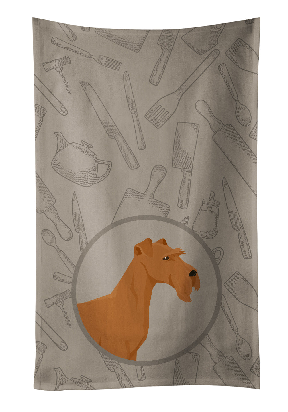 Buy this Irish Terrier In the Kitchen Kitchen Towel CK2193KTWL