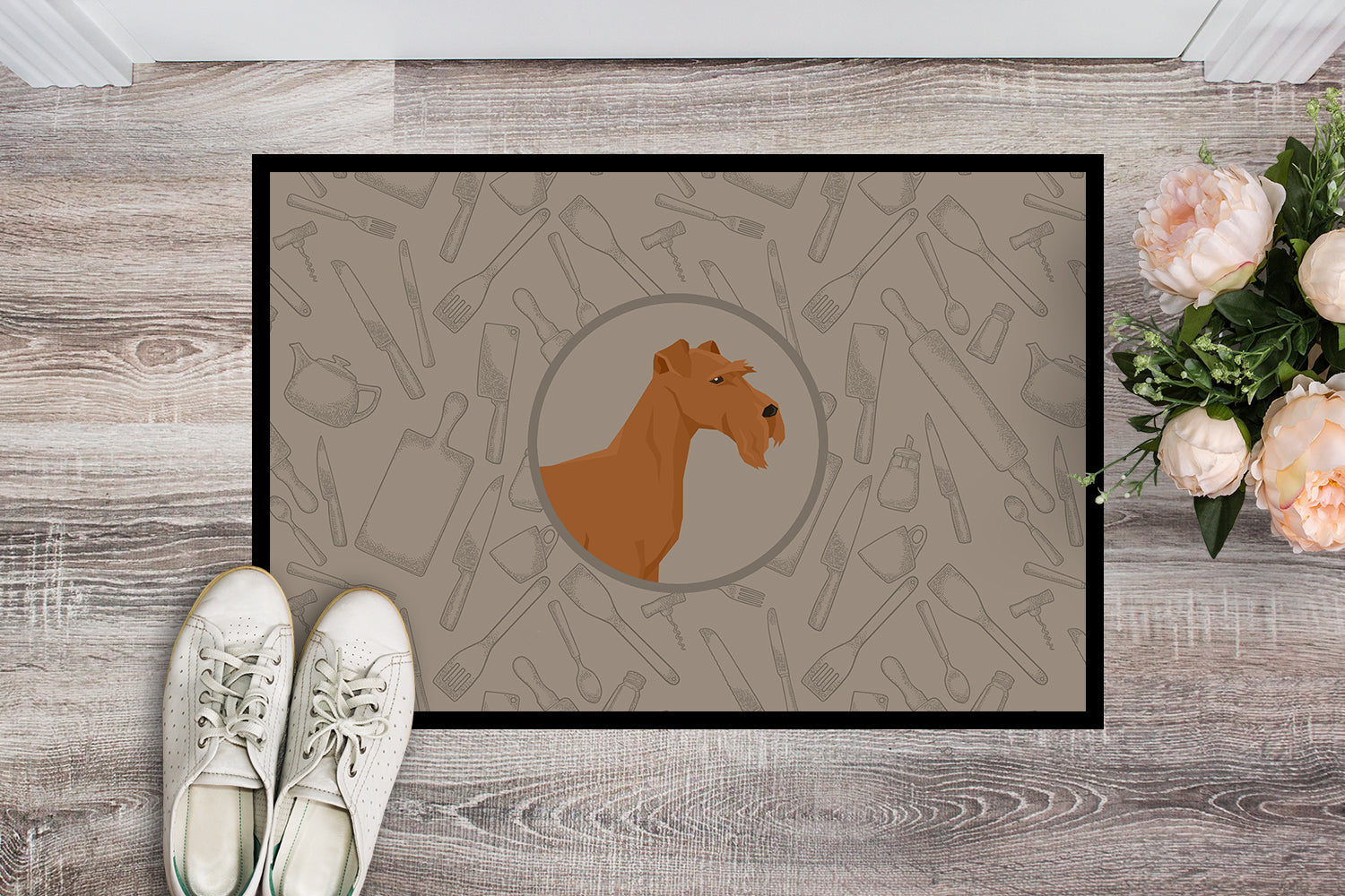 Irish Terrier In the Kitchen Indoor or Outdoor Mat 18x27 CK2193MAT by Caroline's Treasures