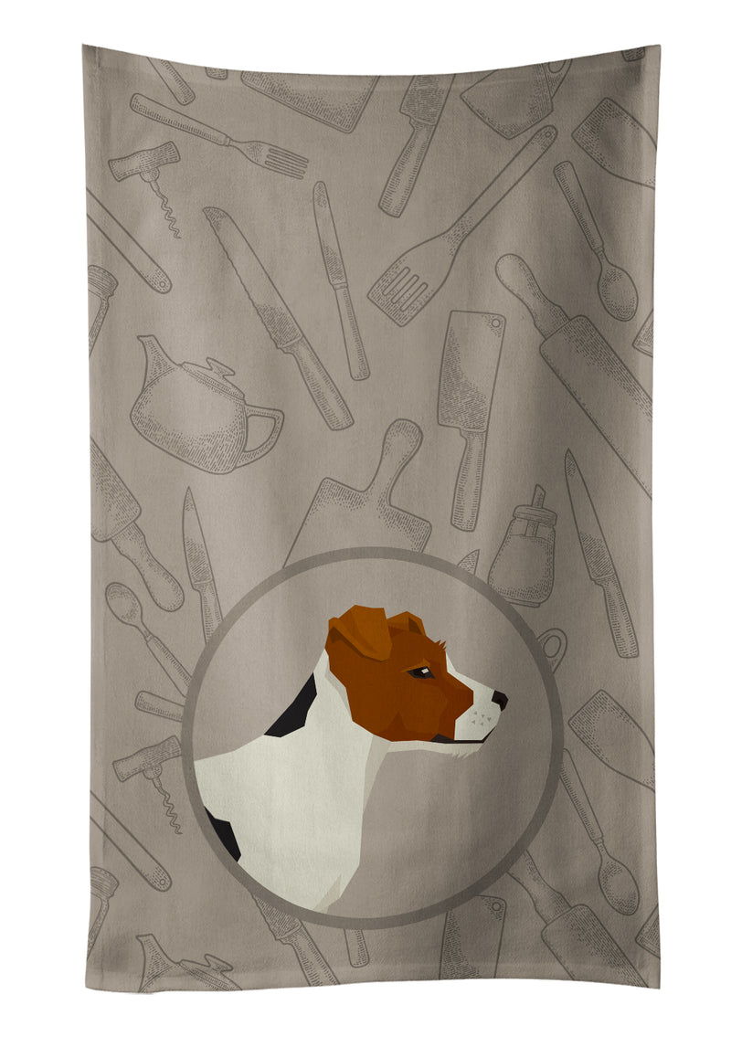 Buy this Jack Russell Terrier In the Kitchen Kitchen Towel CK2194KTWL