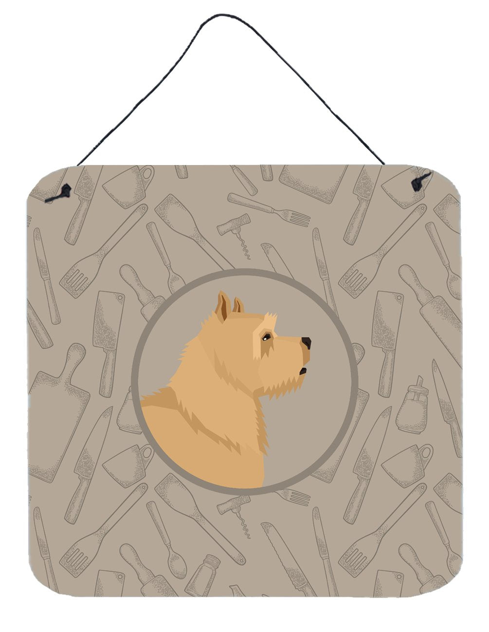 Buy this Norwich Terrier In the Kitchen Wall or Door Hanging Prints CK2198DS66