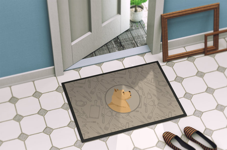 Buy this Norwich Terrier In the Kitchen Indoor or Outdoor Mat 24x36 CK2198JMAT