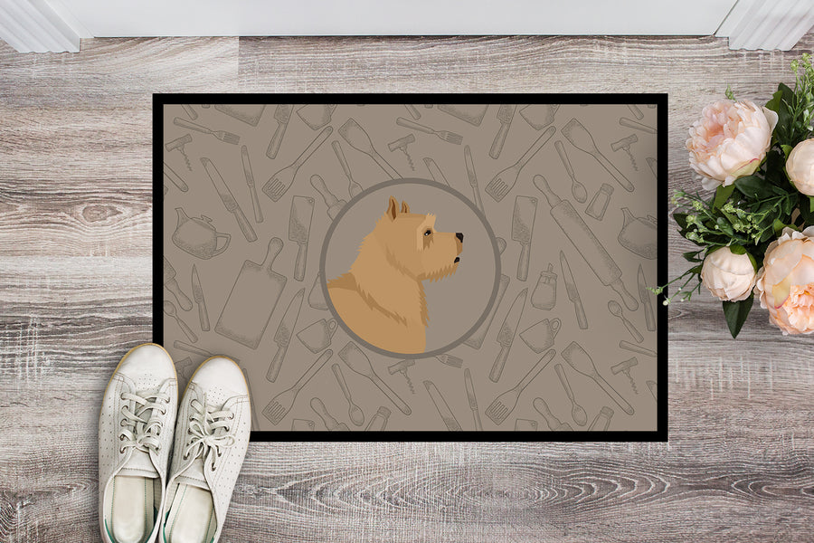 Buy this Norwich Terrier In the Kitchen Indoor or Outdoor Mat 18x27 CK2198MAT