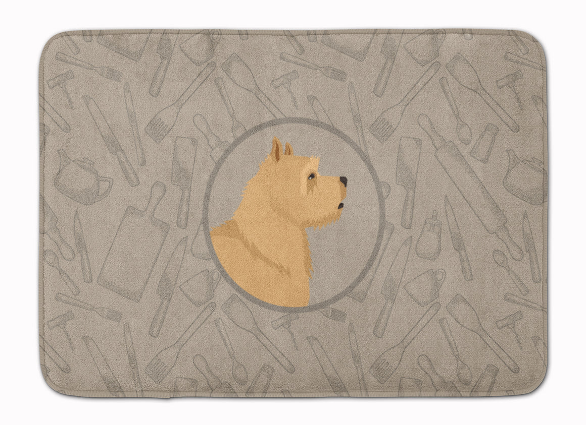 Buy this Norwich Terrier In the Kitchen Machine Washable Memory Foam Mat CK2198RUG