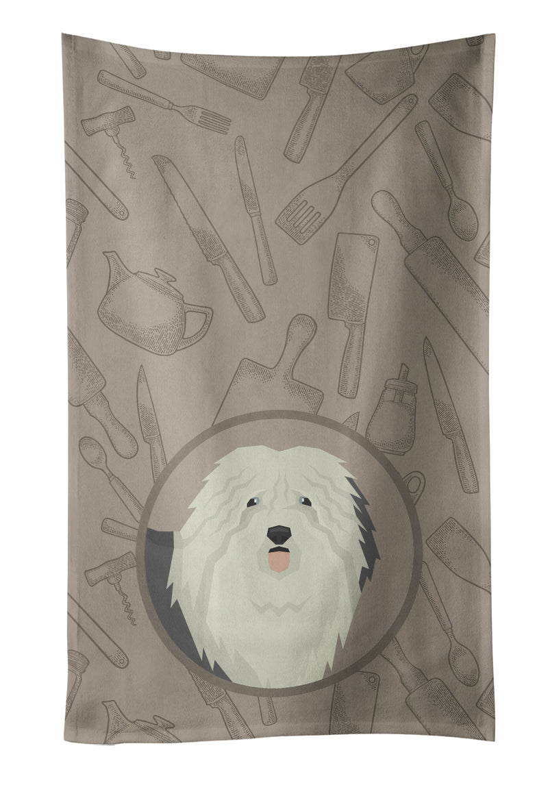 Buy this Old English Sheepdog In the Kitchen Kitchen Towel CK2199KTWL
