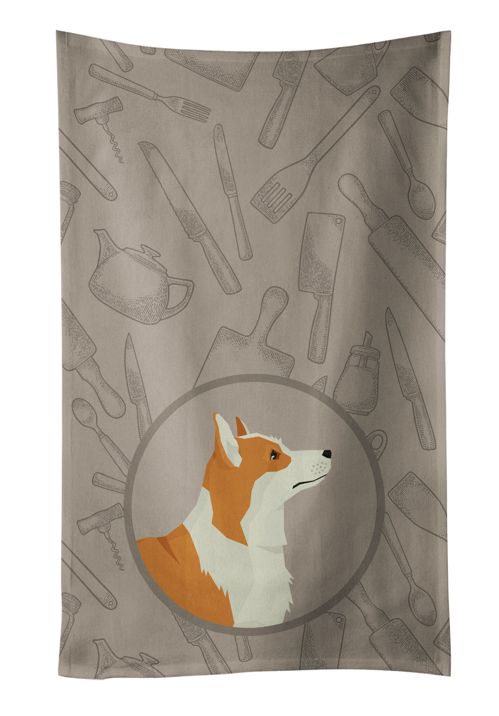 Buy this Pembroke Corgi In the Kitchen Kitchen Towel CK2201KTWL