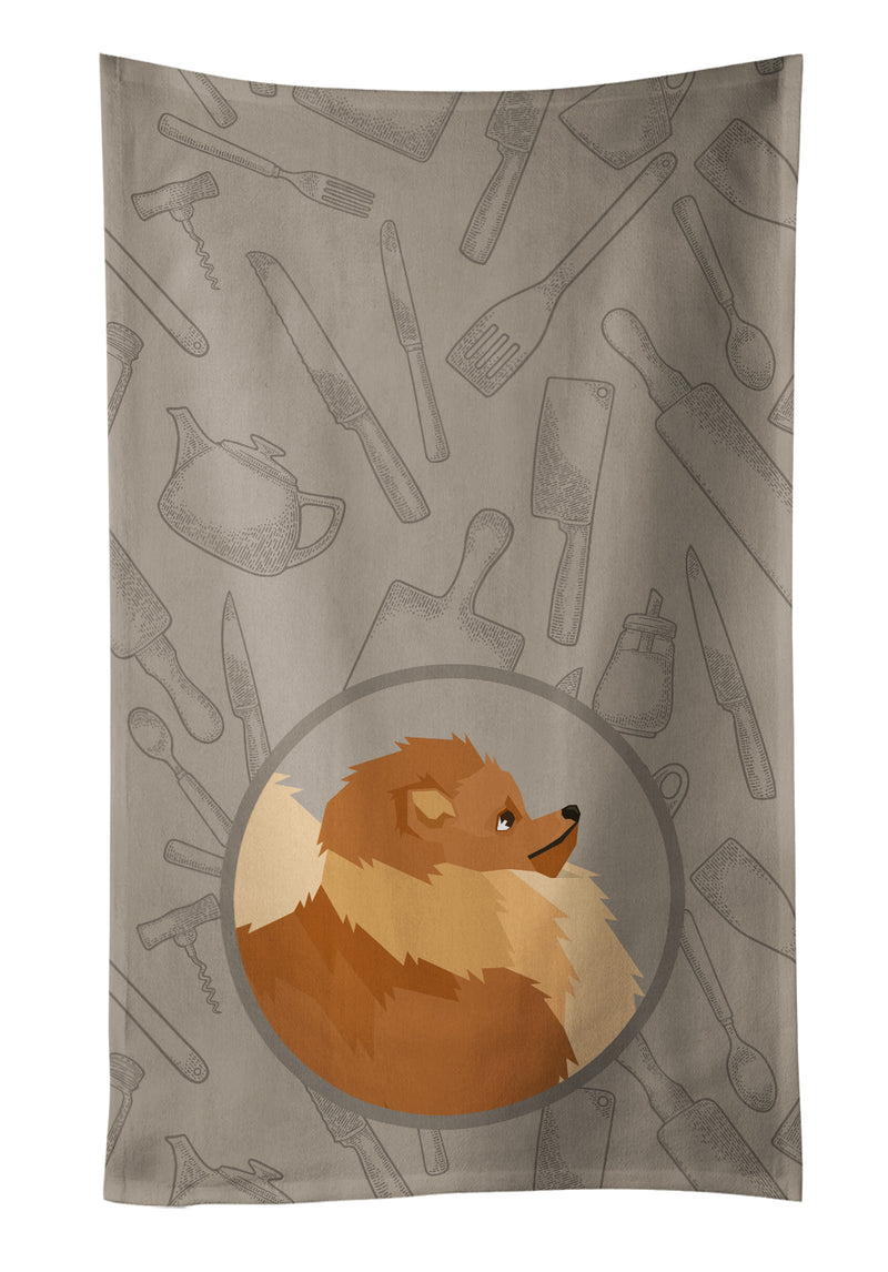 Buy this Pomeranian In the Kitchen Kitchen Towel CK2202KTWL