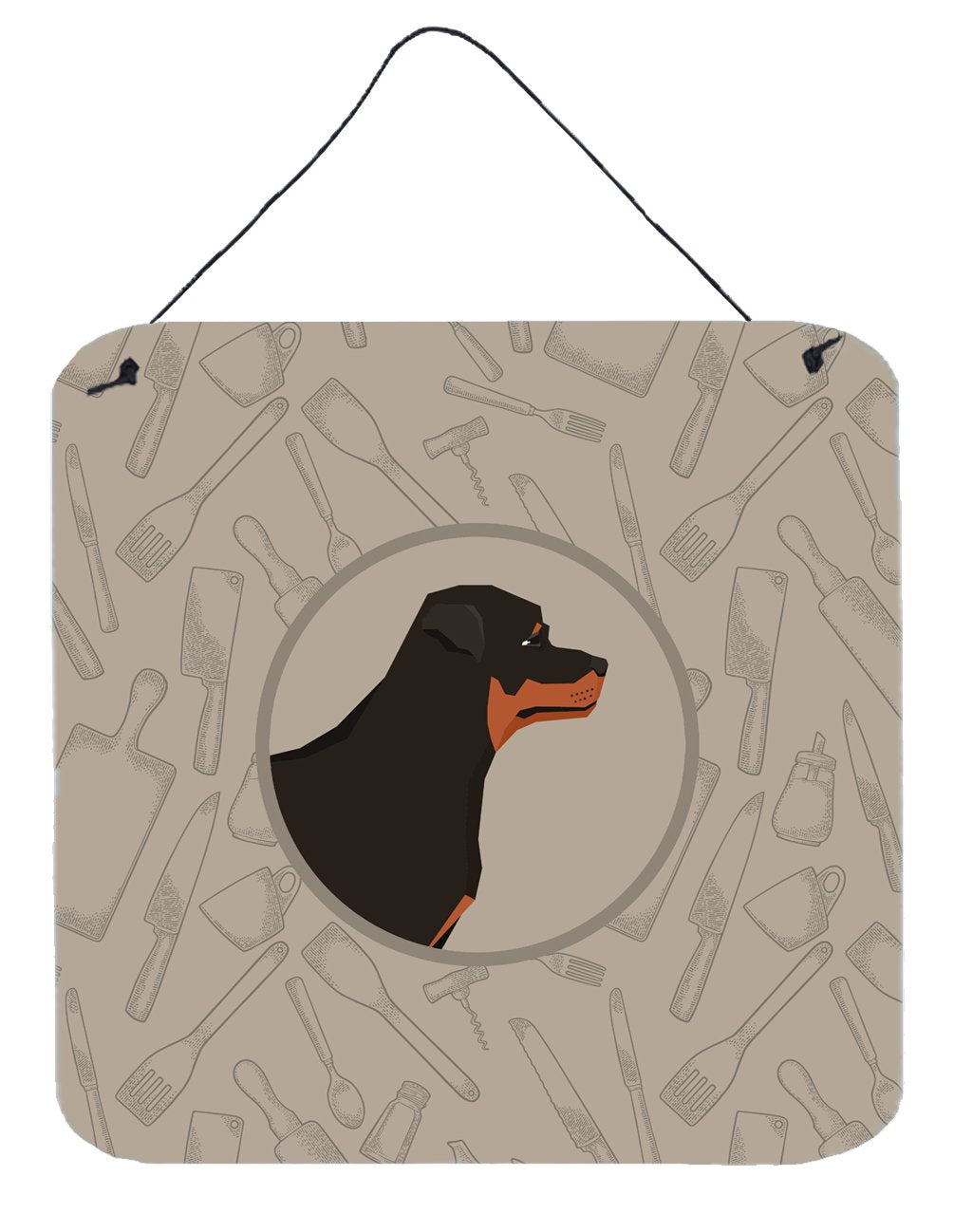 Buy this Rottweiler In the Kitchen Wall or Door Hanging Prints CK2205DS66