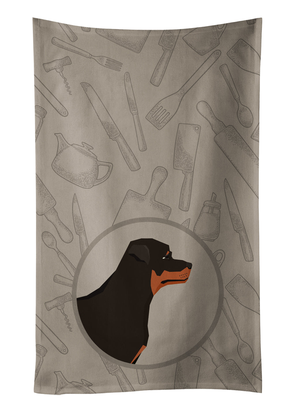 Buy this Rottweiler In the Kitchen Kitchen Towel CK2205KTWL