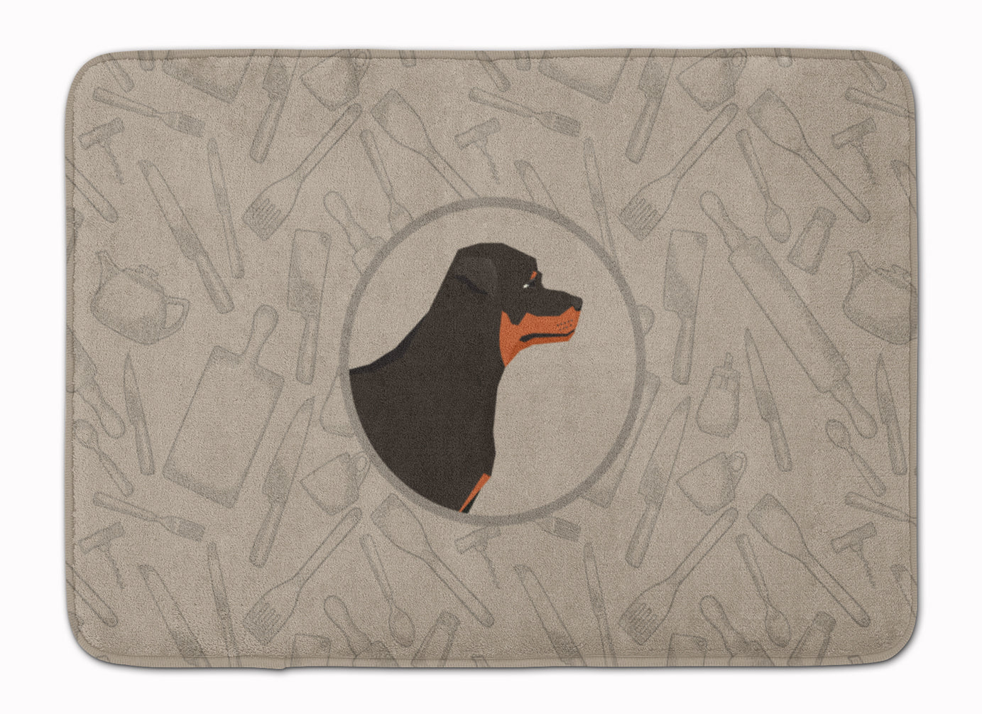 Buy this Rottweiler In the Kitchen Machine Washable Memory Foam Mat CK2205RUG