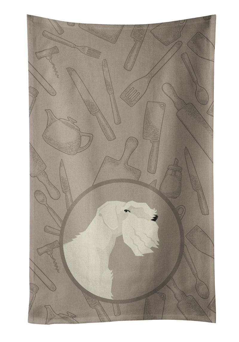 Buy this Sealyham Terrier In the Kitchen Kitchen Towel CK2208KTWL