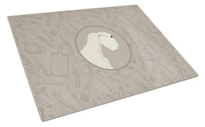 Buy this Sealyham Terrier In the Kitchen Glass Cutting Board Large CK2208LCB