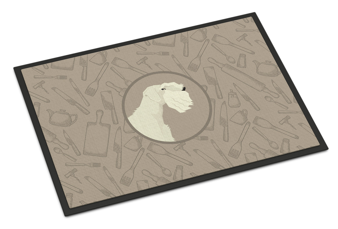 Buy this Sealyham Terrier In the Kitchen Indoor or Outdoor Mat 18x27 CK2208MAT